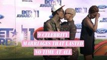 9 Celebrities whose marriages lasted no time at all