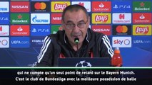 """Groupe D - Sarri : """"Leverkusen a la meilleure possession de balle en Bundesliga"""""""