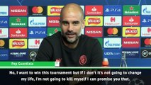 I won't kill myself if City don't win the Champions League - Guardiola