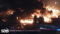 Incendie à Rouen : Lubrizol indique que l'incendie a commencé à l'extérieur du site