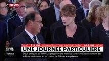 Hommage à Jacques Chirac : voilà pourquoi Carla Bruni a eu l'air si étonnée face à François Hollande - CNEWS lundi 30 septembre 2019