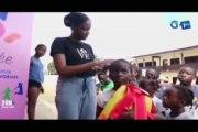 RTG/Remise de kits scolaires aux enfants de l'orphelinat Ayoda dans la commune d'Akanda par l'association caritative Pensée