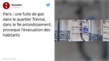 Fuite de gaz à Paris: des rues bouclées et des habitants évacués