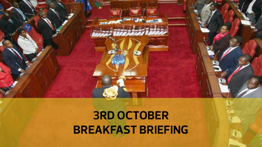 Senators 'procure' bribes  Sh7bn worthless notes puzzle  Snail cream for youth: Your Breakfast Briefing