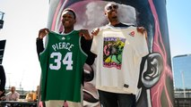 UFC 243: Israel Adesanya & Paul Pierce swap jerseys