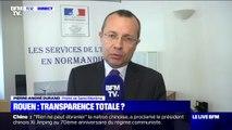 """""""Il n'y a pas de risque pour la santé de vivre à Rouen"""", selon le préfet de Seine-Maritime, même si des analyses plus poussées sont en cours"""