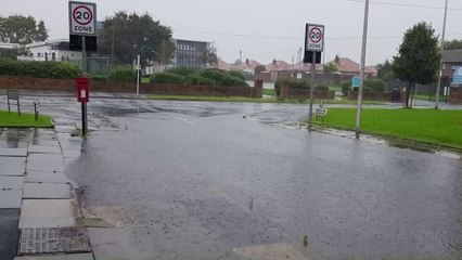 Flooding chaos as a Blackpool cemetry's baby section floods leaving treasured toys and gifts floating