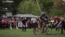 Allemagne : un tournoi de chevaliers... à vélo