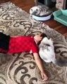 Il y a beaucoup d'amour entre ce chat et son humain ! Gros câlins et petits bisous !