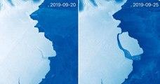 Un immense iceberg se détache en Antarctique mais le phénomène n'est pas dû au réchauffement climatique