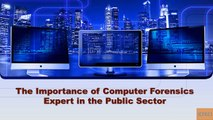 The Importance of Computer Forensics Expert in the Public Sector