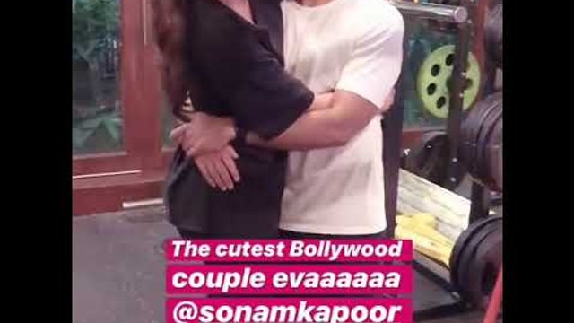 A cute private video of Sonam Kapoor Ahuja and Anand Ahuja cuddling