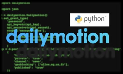 Update Video with Dailymotion Python  SDK