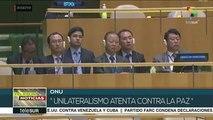 ONU: Corea del Norte alerta que unilateralismo atenta contra la paz