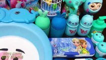 Blue Elsa Anna Slime ! Mixing Mixing Random Things into Slime | Satisfying Slime s #561