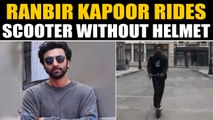Ranbir Kapoor rides electric scooter, video goes viral