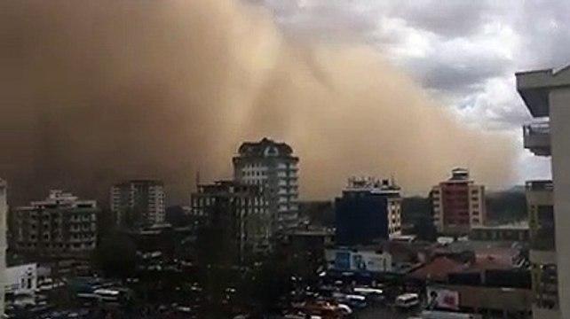 Windstorm hits Nairobi