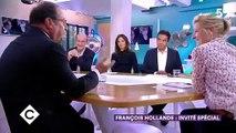 """François Hollande a révélé ce soir dans """"C à vous"""" ce qu'il a vraiment dit à Carla Bruni-Sarkozy dans l'église et qui a provoqué sa réaction choquée !"""