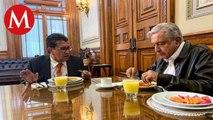 Con tlacoyos, Monreal y AMLO actualizan agenda legislativa