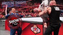WWE RAW - Rey Mysterio's Son attacked by Brock Lesner