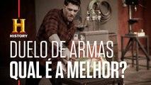 DUELO DE ARMAS: Mangual x Porrete | DESAFIO SOB FOGO AMÉRICA LATINA | HISTORY