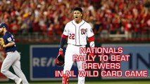 Juan Soto, Nationals Rally To Beat Brewers In NL Wild Card Game