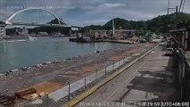 Actual footage of Taiwan bridge collapse