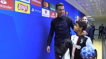 Ronaldo and son all smiles after Juve's Champions League win
