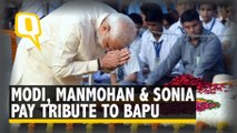 PM Modi, Manmohan & Sonia Pay homage to Mahatma Gandhi
