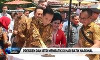 Peringati Hari Batik, Presiden dan Istri Membatik Hingga Sanggar Kamboja Lestarikan Batik Melayu
