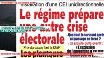Le Titrologue du 02 Octobre 2019 :  Installation d'une CEI unidirectionnelle, le régime prépare une autre crise électorale