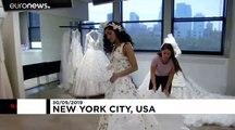 Une robe de mariée en papier toilette, sinon rien !