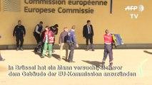 Mann will sich vor EU-Kommission in Brüssel anzünden