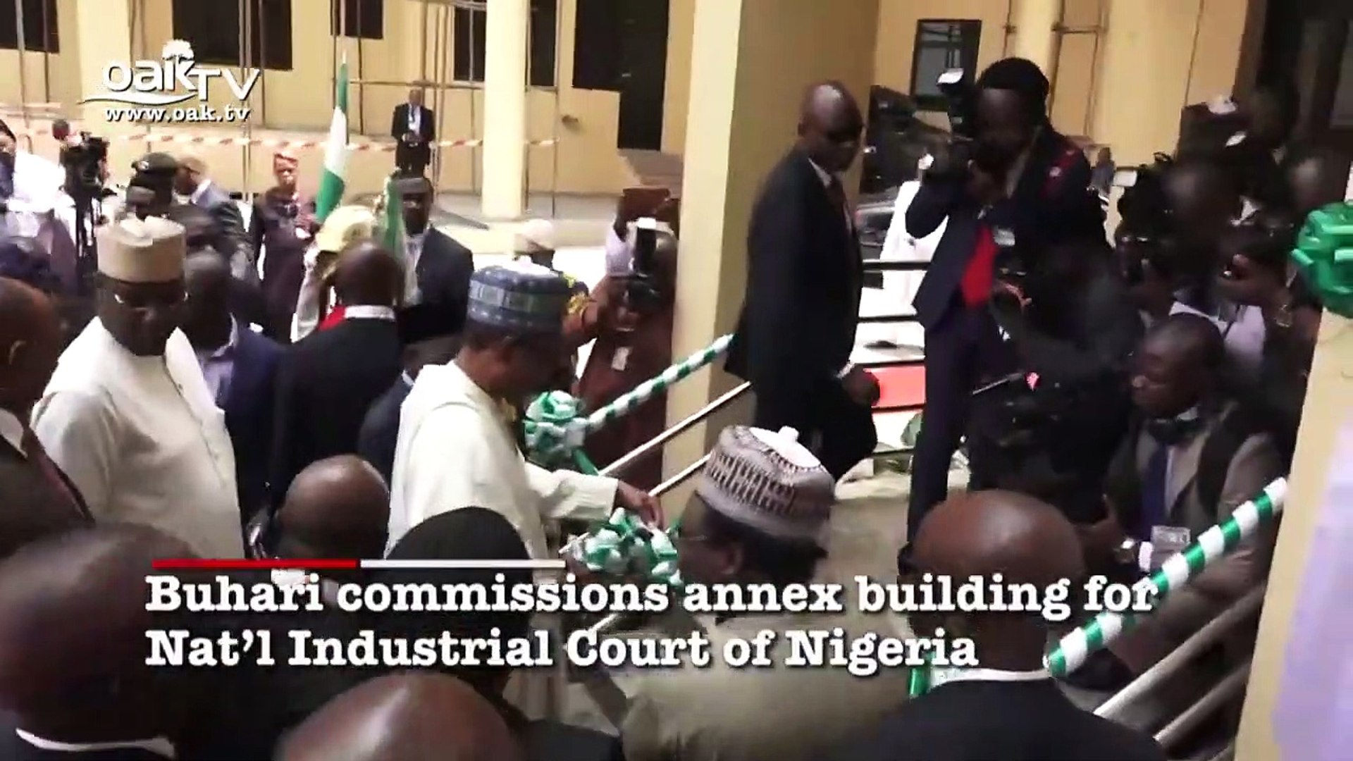 Buhari commissions annex building for Nat'l Industrial Court of Nigeria
