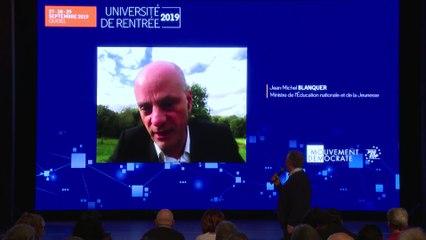 Intervention de Jean-Michel Blanquer - UR2019