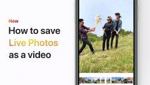 How to save Live Photos as a video on your iPhone, iPad, or iPod touch – Apple Support