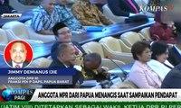 Anggota MPR dari Papua Menangis saat Minta Perhatian Pengungsi Wamena