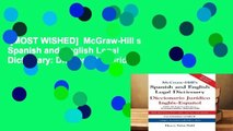 [MOST WISHED]  McGraw-Hill s Spanish and English Legal Dictionary: Diccionario Juridico