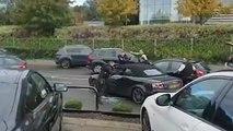 Un passant filme l'arrestation intense d'un ado qui roule en Audi volée au terme d'une course-poursuite