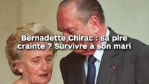 Bernadette Chirac : sa pire  crainte ? Survivre à son mari !