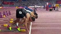 110 metre erkekler engelli yarışında bu görüntüler tartışma yarattı