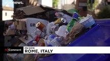 Billetes de metro a cambio de botellas de plástico en Roma