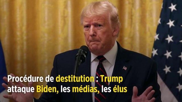 Procédure de destitution : Trump attaque Biden, les médias, les élus
