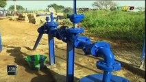 ORTM - Le ministre de l'énergie et de l'eau a procédé à la mise en service de plusieurs bornes fontaines et éclairages publics dans la ville de Diéma