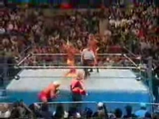 Undertaker & Ric Flair vs Hulk Hogan & Sid Justice