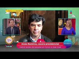 Vocero presidencial da detalles del homenaje a José José en México | Sale el Sol