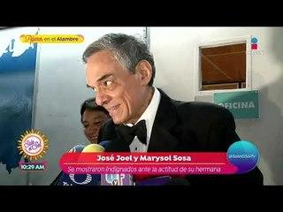 José Joel y Marysol explotaron contra Sarita previo a reconciliación | Sale el Sol