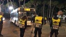 L'incroyable escorte policière pour une poignée de supporters du Stade Rennais