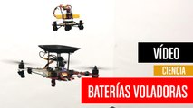 Baterías voladoras que recargan drones en vuelo