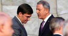 """Son Dakika: Milli Savunma Bakanı Akar, ABD'li mevkidaşı Esper ile """"güvenli bölge""""yi görüştü"""